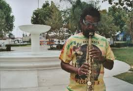 A musician in Leimert Park.