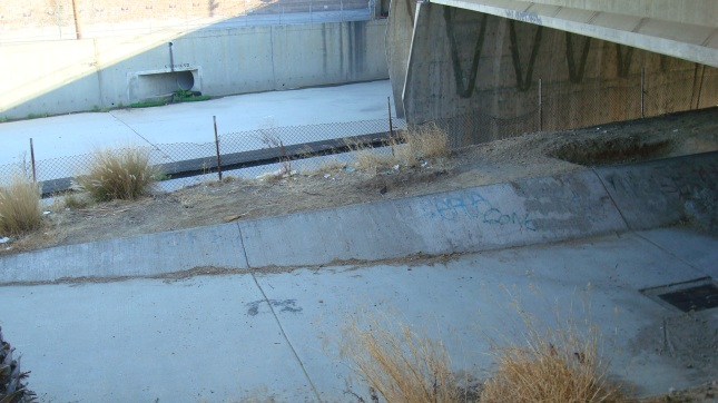 The LA River near Warner Bros. studios in Burbank