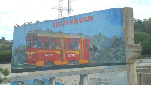 A mural marking a tiny, but cool, park in the Glendale Narrows