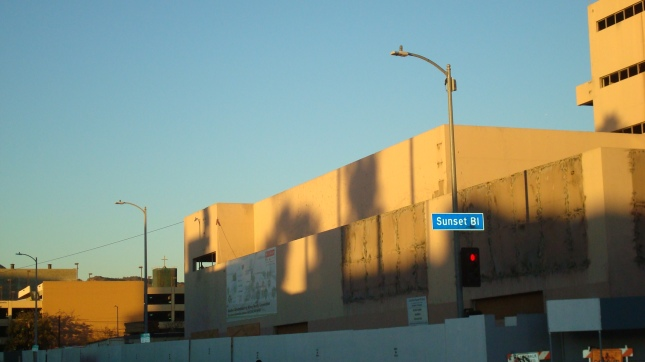 A shot of CBS Studios taken in the late afternoon.