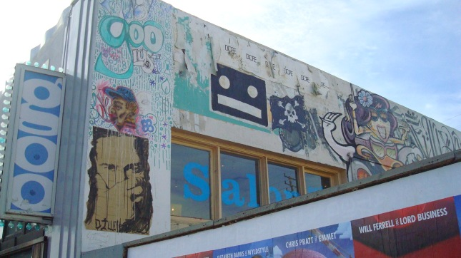 Street artists have been busy on Fairfax.