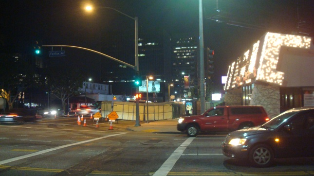 MTA construction site at Wilshire and Fairfax