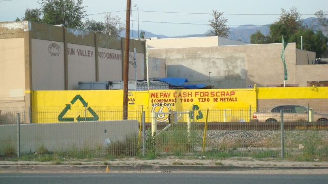 a recycling center