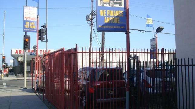 a used car lot