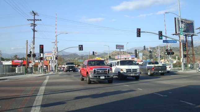 traffic at San Fernando and Sunland