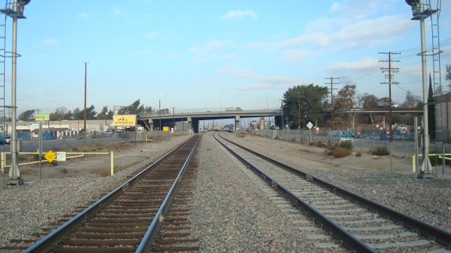 tracks originally laid by  Southern Pacific Railroad