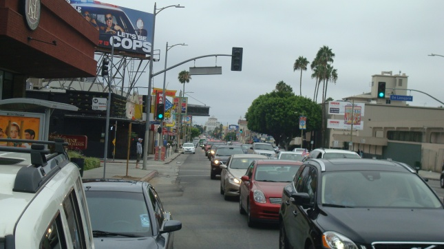 Traffic on Vine, coming from Fountain.