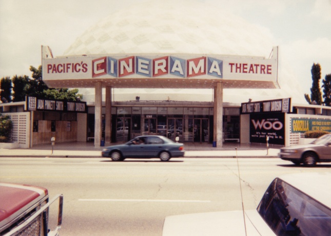 The front of the Cinerama Dome in 1998.