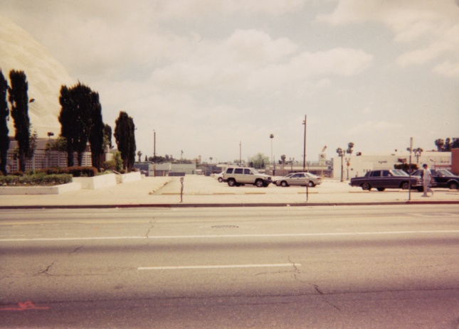 This shot was taken facing the opposite direction, now looking across the parking lot towards Morningside Court.