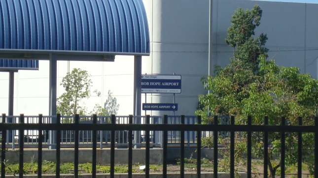 Metrolink/Amtrak stop near Burbank Airport.