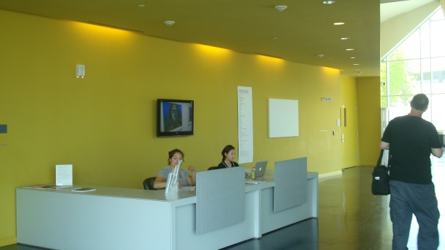 The reception area at VPAM
