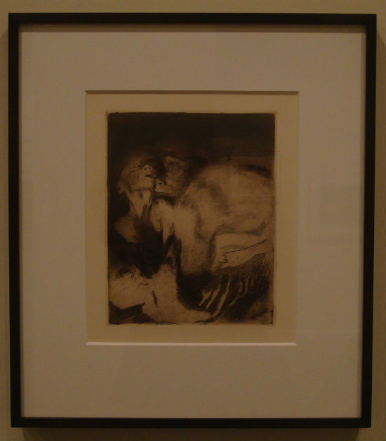 Death and Mother Struggling Over Child by Käthe Kollwitz