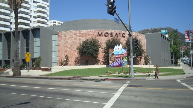 Mosaic, Hollywood seen from Hollywood Blvd.