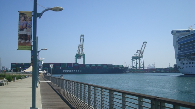 A view of the Port from the water's edge.
