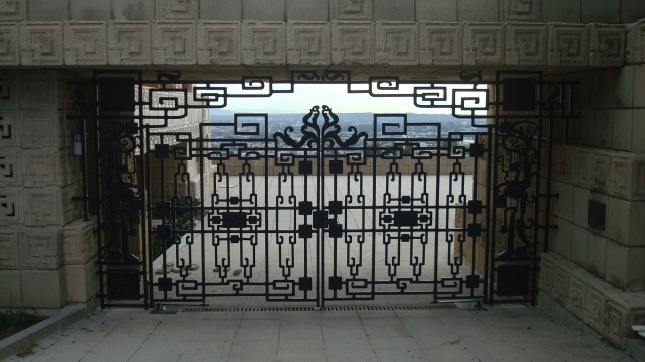The gate at the driveway.