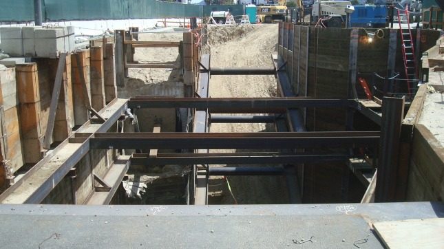 Another shot of construction at the North Hollywood site