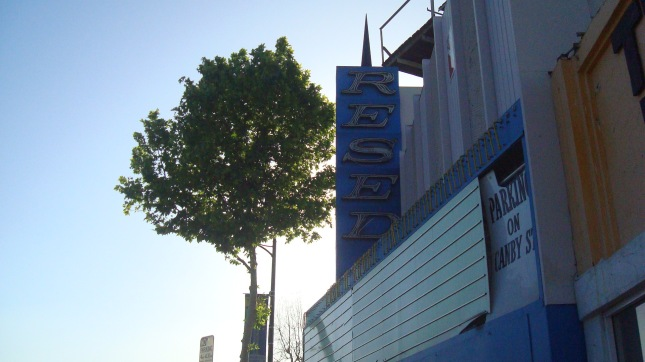The marquee of The Reseda Theater