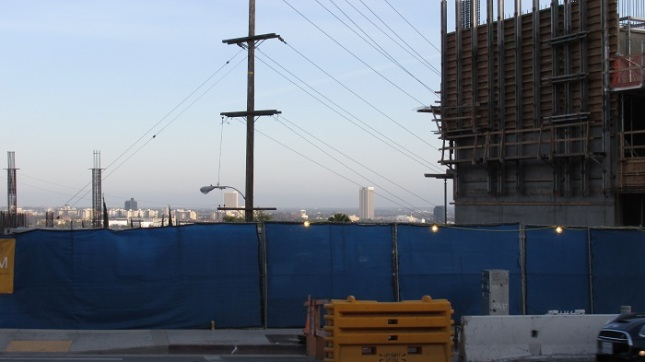 Another view of construction at Sunset and La Cienega