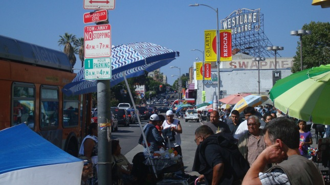Street vendors on Alvarado.