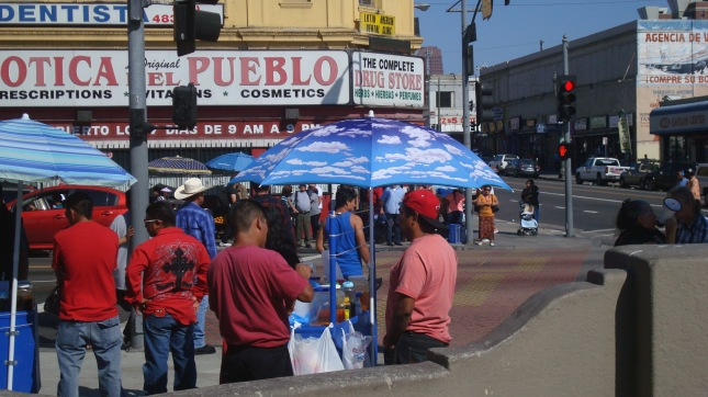 More vendors on the other side of Alvarado.