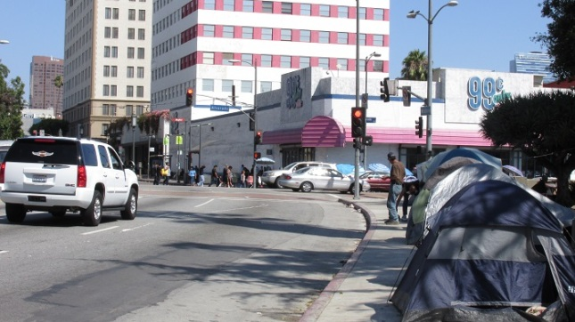 A view of Wilshire facing Alvarado.