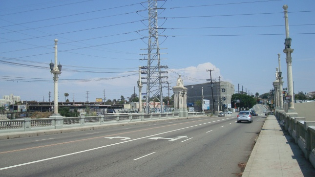 A view of the bridge heading toward East LA.