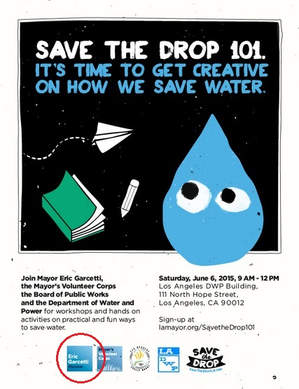 Poster for Save the Drop campaign