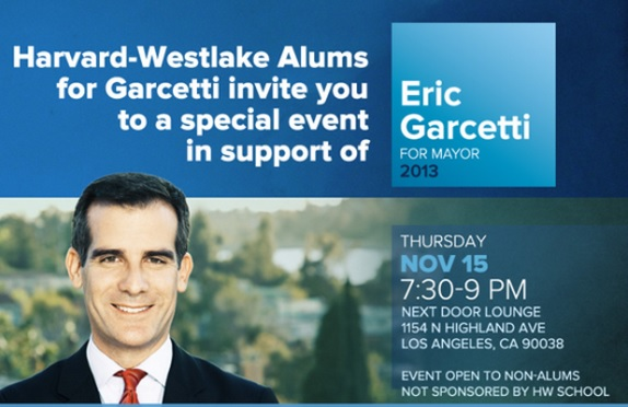 Announcement from Garcetti's 2013 campaign
