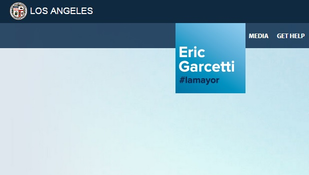 Screen shot from the home page for the Mayor's Office