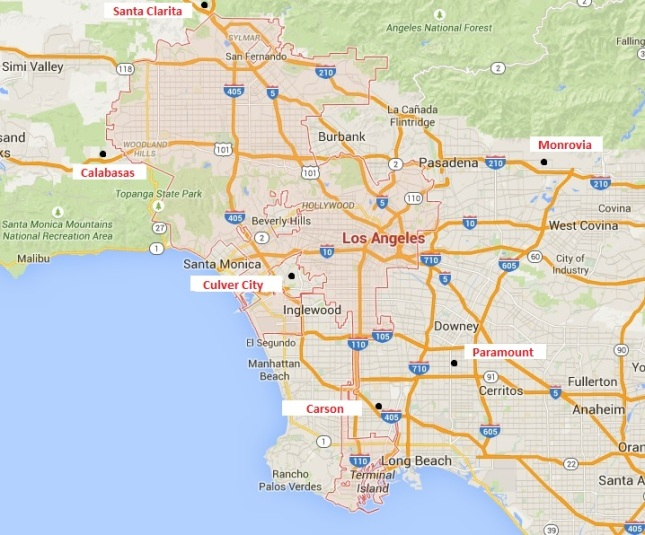 Map LA City w Locations