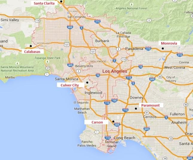 Map LA City w Locations