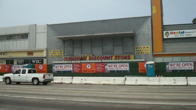 MTA construction along Crenshaw Blvd.