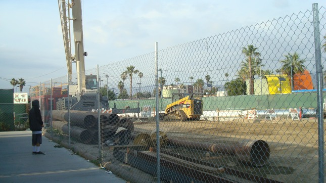 MTA construction in North Hollywood