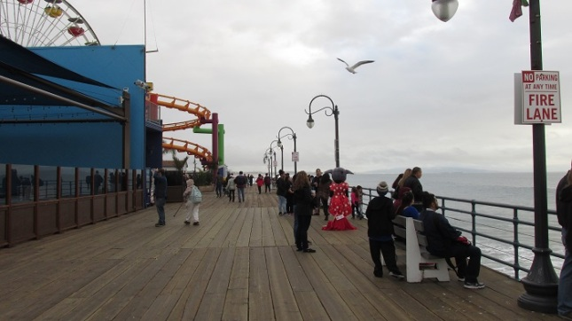 People hanging out on the pier.