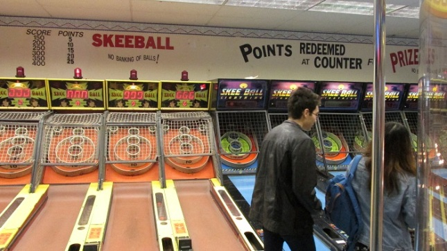 ...though I didn't see anybody playing skeeball.