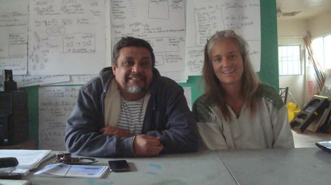 Leonardo Vilchis and Elizabeth Blaney of Union de Vecinos.