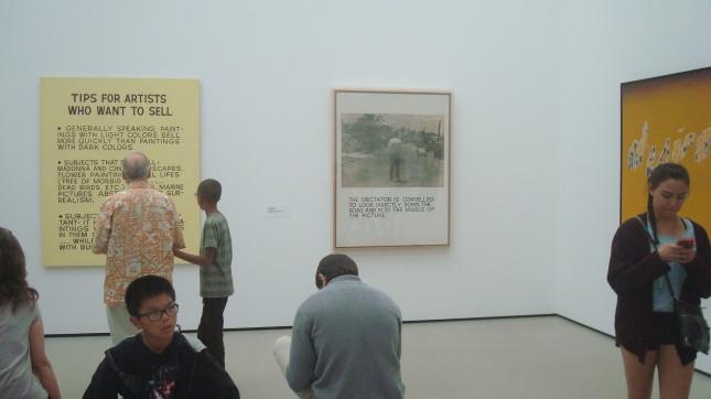 Art you can read, from John Baldessari and Ed Ruscha.