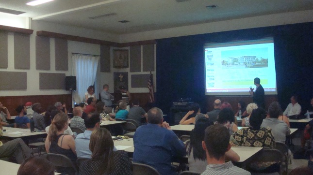 Town hall meeting on proposed Junction Gateway project.