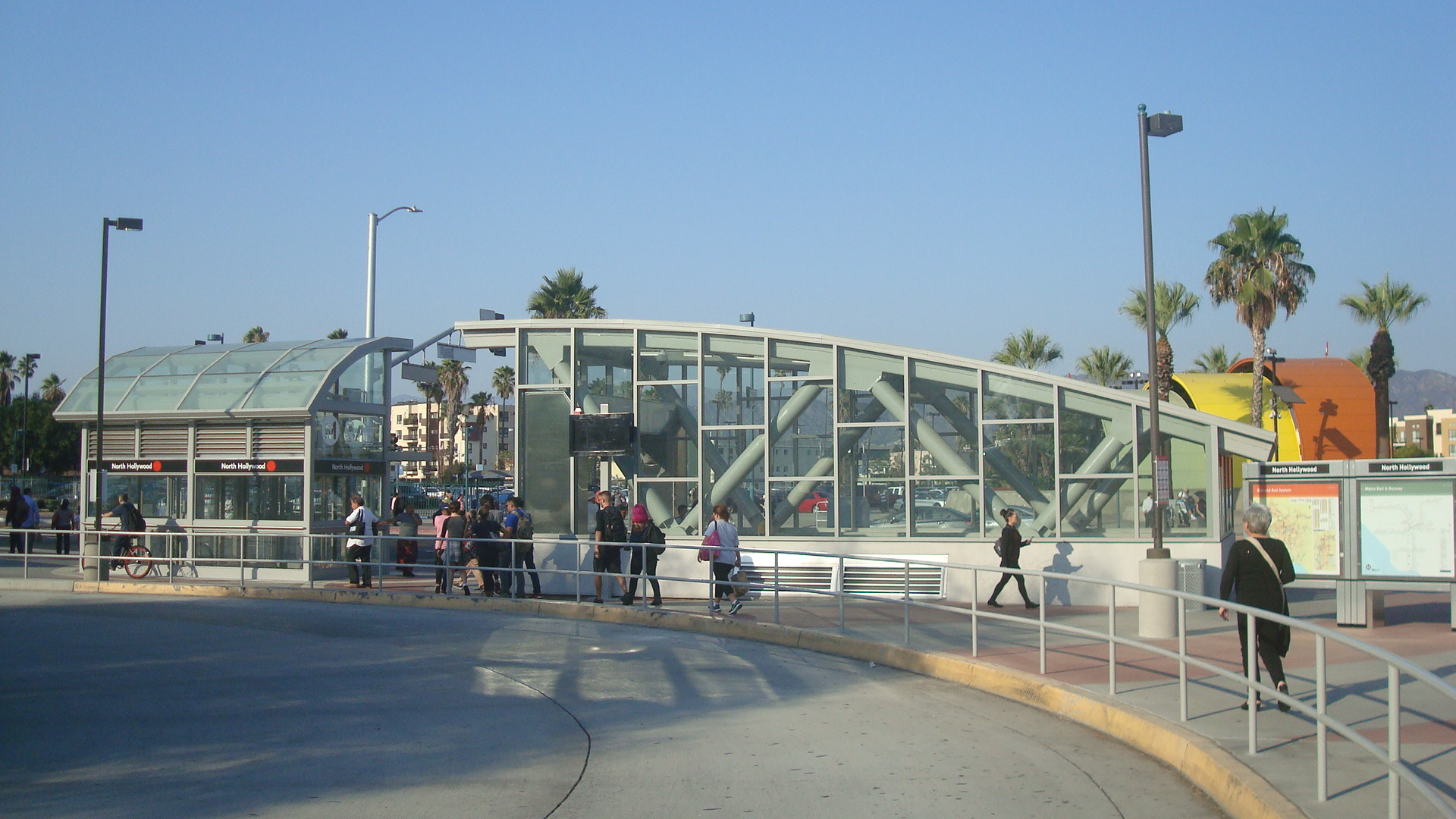 Street level entrance to the North Hollywood Station Underpass.