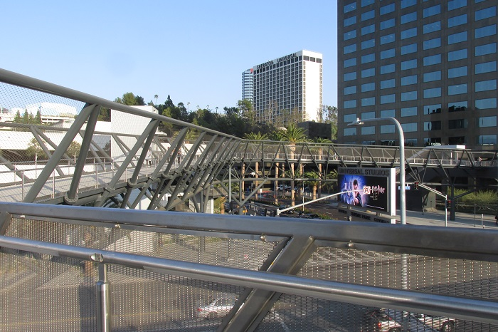 Looking across the bridge to Universal City.