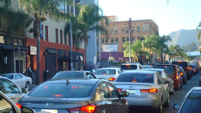 Rush hour on Cahuenga, July 2014.