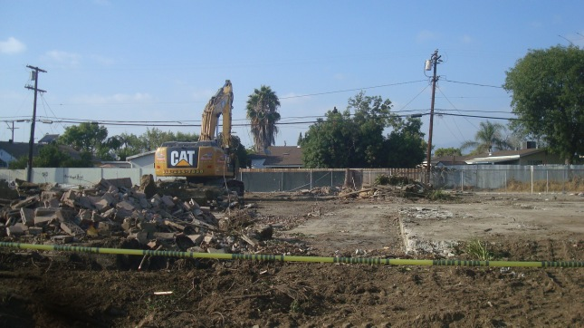 Demolition of the houses on Roscoe.