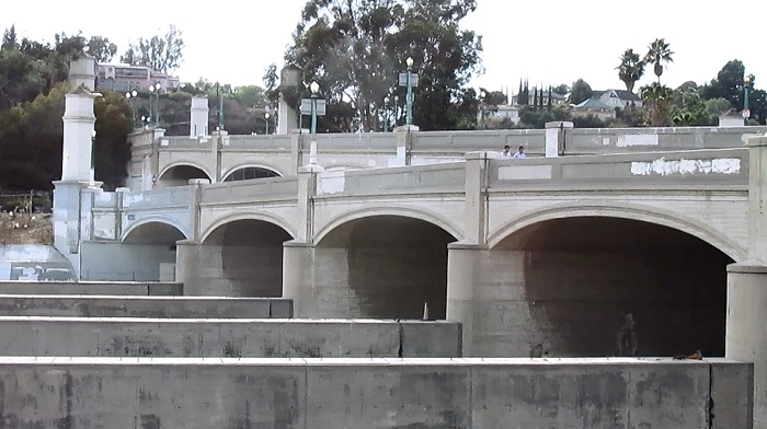A view of the Hyperion Bridge.