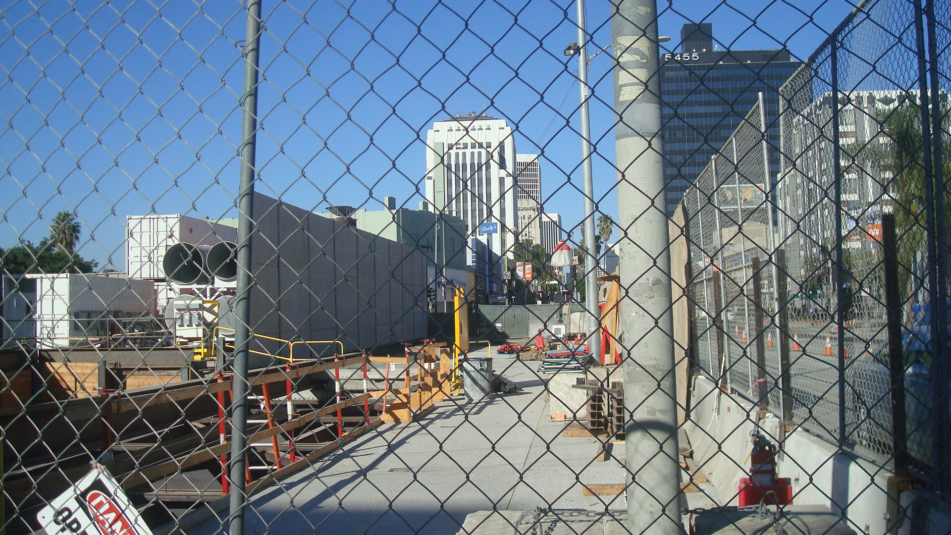 Another shot of construction at Wilshire and La Brea.