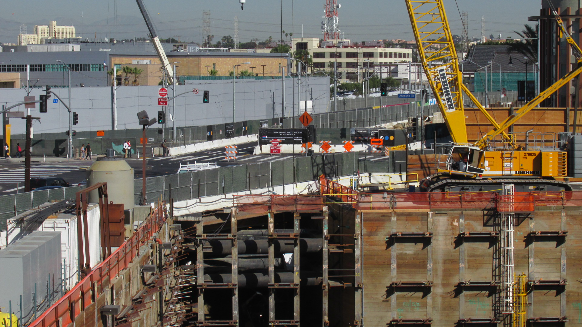 Construction moves forward on MTA's Regional Connector in Little Tokyo.