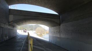 Under the Hyperion Bridge.
