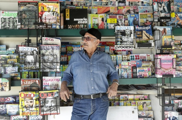 Boyle Heights Newsstand from LA Times 2002