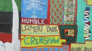 Mural on Crenshaw Blvd..