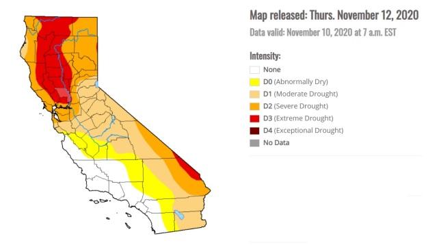 Drought Map CA Nov 2020